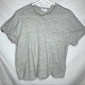 Frame Denim Grey Asymmetrical T Shirt